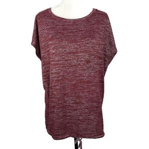 Lou & Grey Tops - Lou & Grey Maroon Heathered Top Size Large